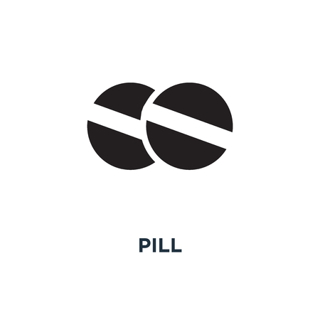 Pill icon. Simple element illustration. Pill concept symbol design, vector logo illustration. Can be used for web and mobile.