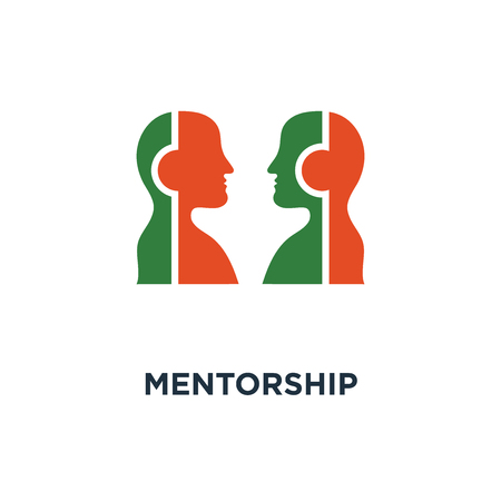 mentorship icon. mentoring and guidance concept symbol design, competition game, relationship vector illustration