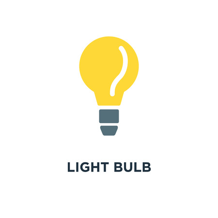 light bulb icon. idea concept, energy power concept symbol design, vector illustration