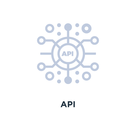 api icon. application programming interface concept symbol design, vector illustration