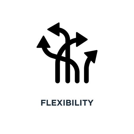 icono de flexibilidad. diseño de símbolo de concepto de flexibilidad, ilustración vectorial
