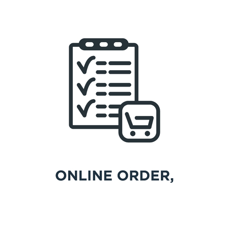 online order, purchase form, e icon. commerce and shopping concept symbol design, vector illustration Banque d'images - 109059171