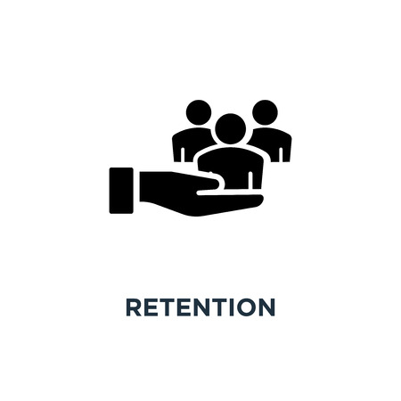 retention icon. retention concept symbol design, vector illustration