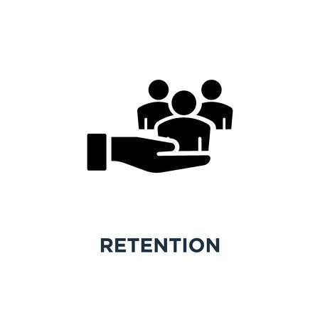 icône de rétention. conception de symbole de concept de rétention, illustration vectorielle