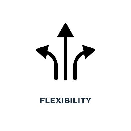 Flexibilitätssymbol. Flexibilitätskonzept Symbol Design, Vektor-Illustration Vektorgrafik