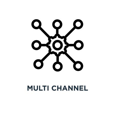 multi channel icon. multi channel concept symbol design, vector illustration