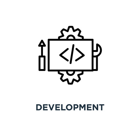 development icon. development concept symbol design, vector illustration Banco de Imagens - 108988947