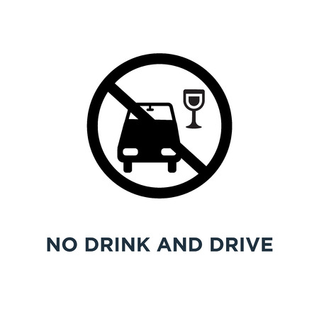 No drink and drive icon. Simple element illustration. No drink and drive concept symbol design, vector logo illustration. Can be used for web and mobile.