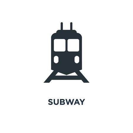 subway icon. metro concept symbol design, underground vector illustration