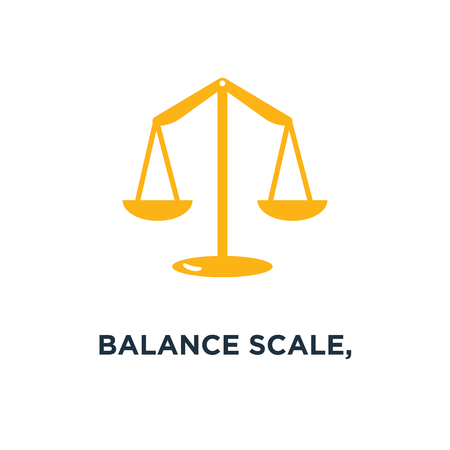 balance scale, balance icon, symbol of justice concept