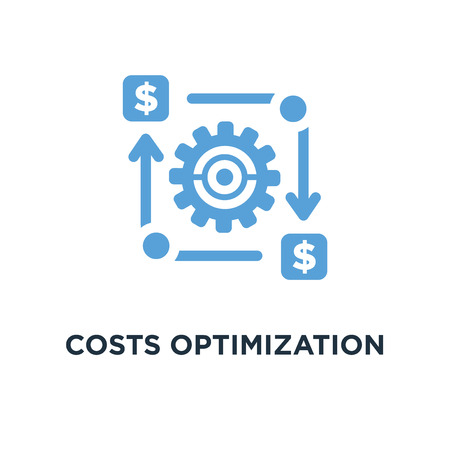costs optimization icon. business efficiency concept concept symbol design, vector illustration