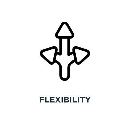 Flexibilitätssymbol. Flexibilitätskonzept Symbol Design, Vektor-Illustration