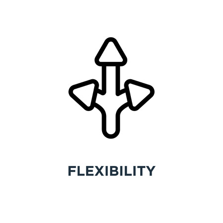 icône de flexibilité. conception de symbole de concept de flexibilité, illustration vectorielle