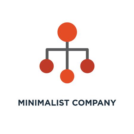 icône de modèle de graphique de hiérarchie organisation entreprise minimaliste. conception de symbole de concept de structure organisationnelle, illustration vectorielle Vecteurs