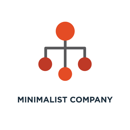 minimalist company organization hierarchy chart template icon. organisation structure concept symbol design, vector illustration Ilustracja