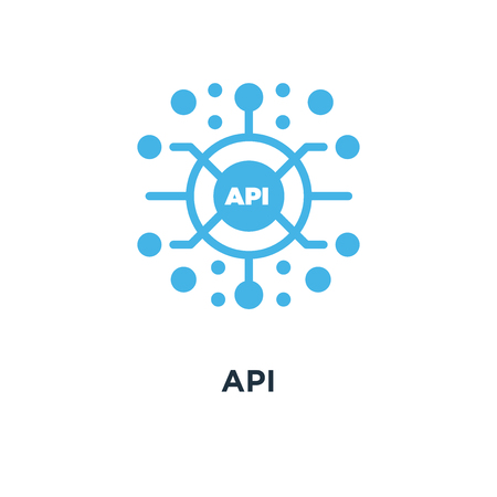 api icon. application programming interface concept symbol design, software integration vector illustration Ilustracja