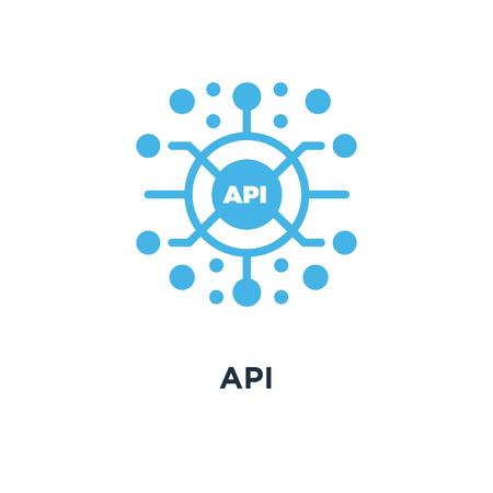 api icon. application programming interface concept symbol design, software integration vector illustration Illustration