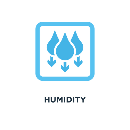 humidity icon. water level down concept symbol design, with gradient on white vector illustration Vectores