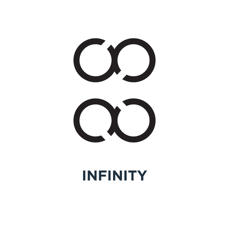 Infinity icon. Simple element illustration. Infinity concept symbol design, vector logo illustration. Can be used for web and mobile.  イラスト・ベクター素材