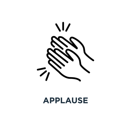 applause icon. applause concept symbol design, vector illustration Illustration