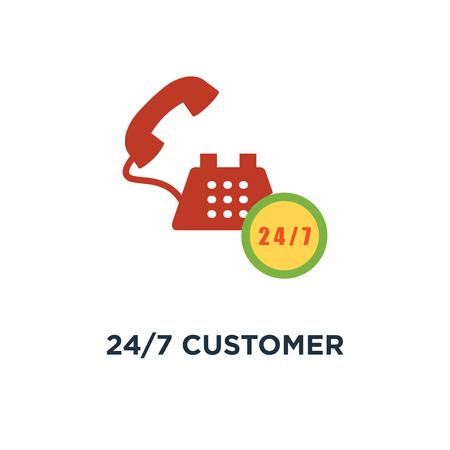 24/7 customer service icon. customer support concept symbol design, call center vector illustration Stock Illustratie