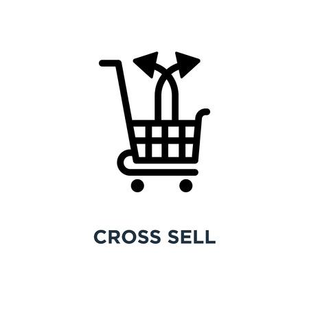 icône de vente croisée. conception de symbole de vente croisée, illustration vectorielle