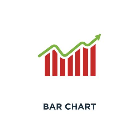 bar chart icon. business graph. data growth diagram concept symbol design, vector illustration