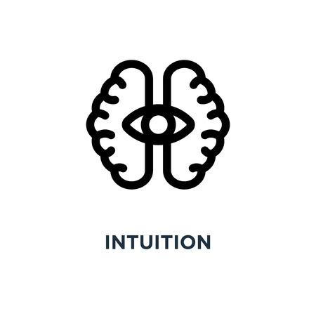intuition icon. intuition concept symbol design, vector illustration Vettoriali