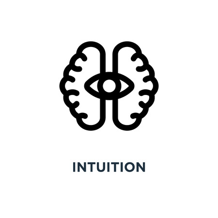 intuition icon. intuition concept symbol design, vector illustration 일러스트