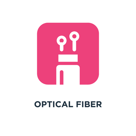 optical fiber icon. optical fiber concept symbol design, vector illustration