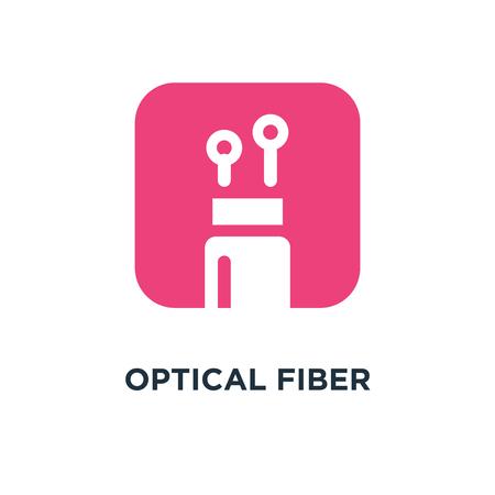 optical fiber icon. optical fiber concept symbol design, vector illustration