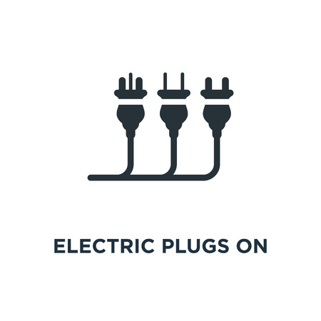 electric plugs on white icon. electric plugs on white concept symbol design, vector illustration Иллюстрация