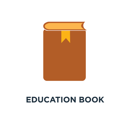 education book icon, symbol of learning book concept