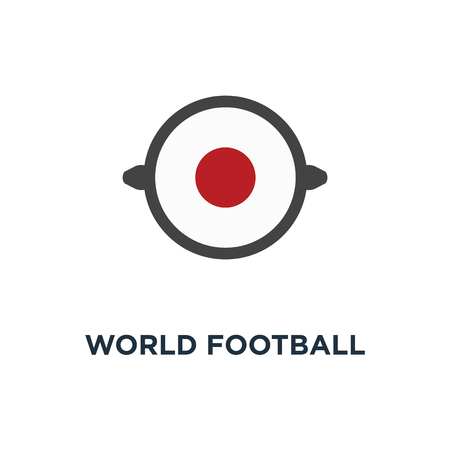 world football competition 2018 icon. circle flags of the teams concept symbol design, russia vector illustration Stock Illustratie
