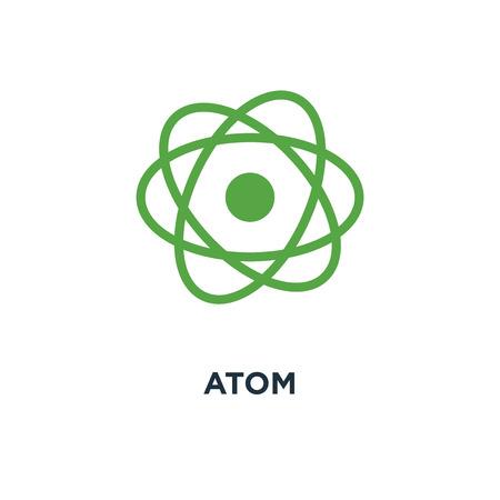 atom icon. atom concept symbol design, chemistry & science research vector illustration