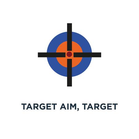 target aim, target icon. cross aim concept symbol design, target vector illustration
