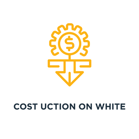 cost reduction on white icon. cost reduction on white concept symbol design, vector illustration Vector Illustration