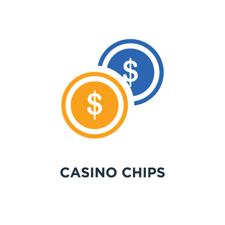 Casino chips pictogram. casinofiches symbool conceptontwerp, vectorillustratie Stockfoto - 109719646