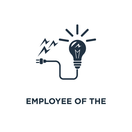 employee of the month icon. talent award, successful person, accomplishment celebration, reaching goal concept symbol design, outstanding achievement, loyalty program, first place winner, reward for good work vector illustration Illustration