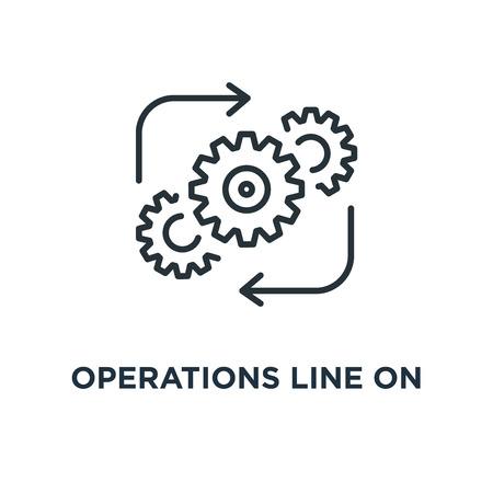 Operatielijn op wit pictogram. operatielijn op wit symbool conceptontwerp, vectorillustratie Stockfoto - 109719649