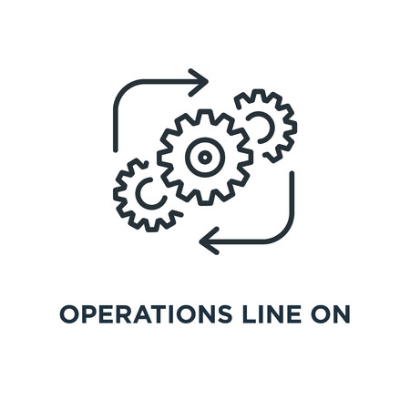 operations line on white icon. operations line on white concept symbol design, vector illustration