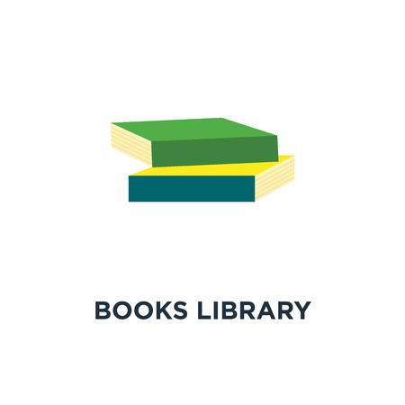books library icon. literature, education concept symbol design, vector illustration
