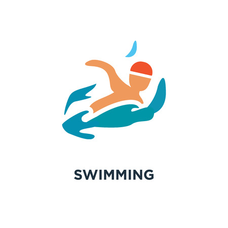 swimming icon. swimming pool concept symbol design, water swim sport vector illustration