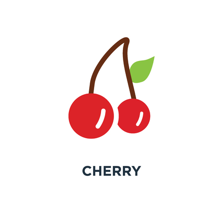 cherry icon. fruit concept symbol design, sweet cherries, fresh healthy cherries vector illustration
