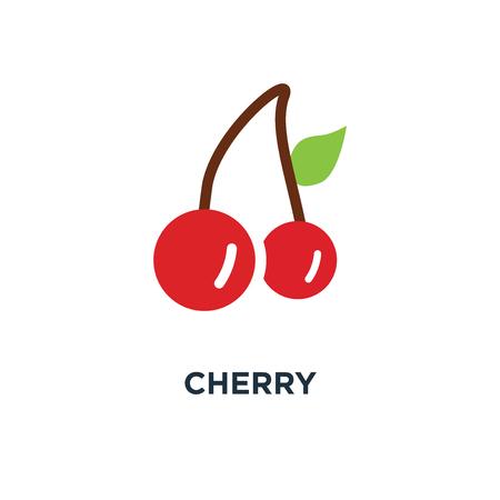 Kers pictogram. fruit symbool conceptontwerp, zoete kersen, verse gezonde kersen vectorillustratie Stockfoto - 109719656