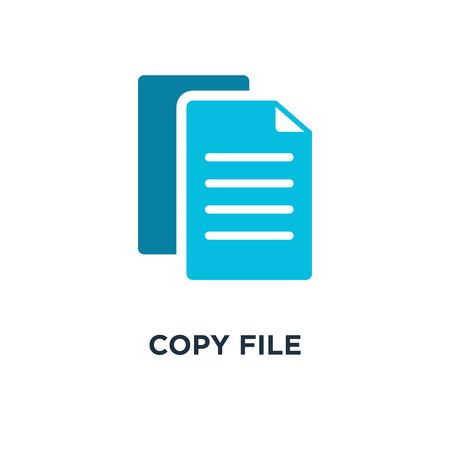 copy file icon. document concept symbol design, vector illustration