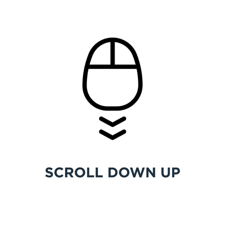 scroll down up icon. computer mouse . concept symbol design, vector illustration Stock Illustratie