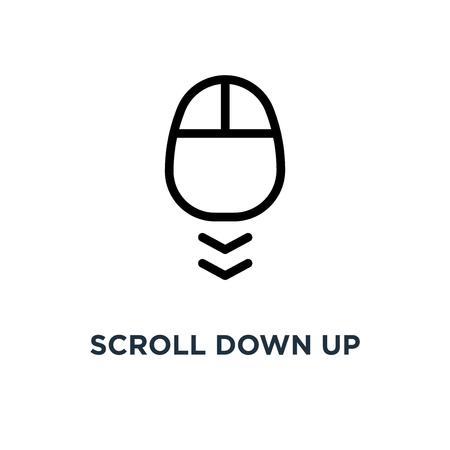 Scroll naar beneden pictogram. computermuis . concept symbool ontwerp, vector illustratie Stockfoto - 109719662