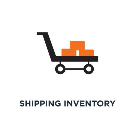 shipping inventory icon. cardboard concept symbol design, shipping package, carton box vector illustration