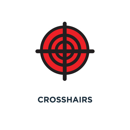 crosshairs icon, symbol of weapon concept target aim, sniper